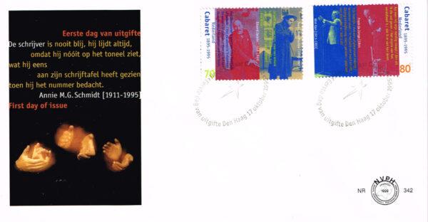 Nederland 1995 FDC 100 jaar Cabaret in Nederland onbeschreven E342