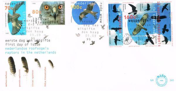 Nederland 1995 FDC Natuur en Milieu roofvogels onbeschreven E340