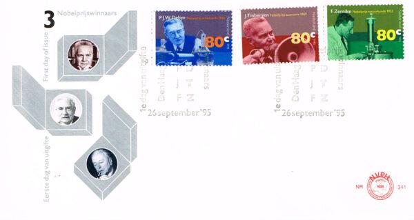 Nederland 1995 FDC Nobelprijswinnaars onbeschreven E341