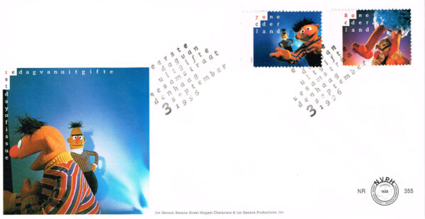 Nederland 1996 FDC 20 jaar Sesamstraat onbeschreven E355