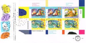 Nederland 1996 FDC Blok Zomerzegels onbeschreven E348A