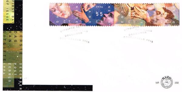 Nederland 1996 FDC Decemberzegels onbeschreven E358