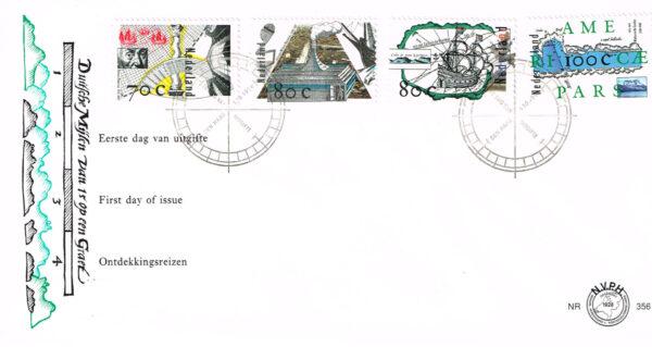 Nederland 1996 FDC Ontdekkingsreizen onbeschreven E356