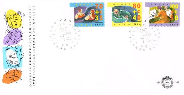 Nederland 1996 FDC Zomerzegels onbeschreven E348