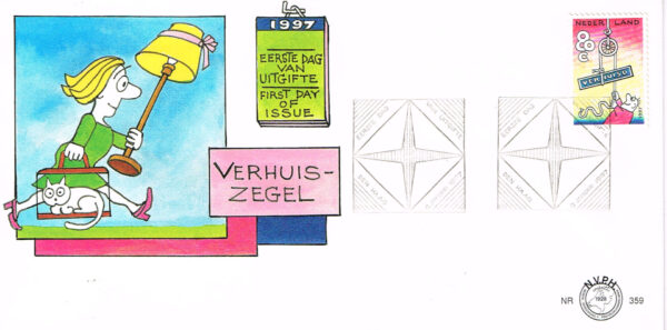 Nederland 1997 FDC Verhuispostzegel onbeschreven E359