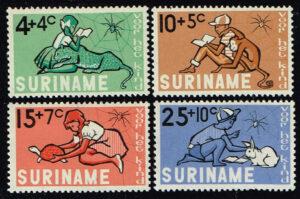 Suriname 1965 Kinderzegels Kind en Dier NVPH 431-434