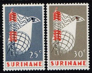 Suriname 1966 Invoering van Televisie in Suriname NVPH 460-461