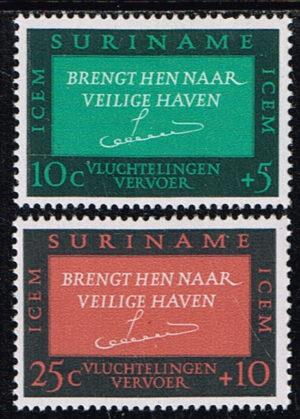 Suriname 1966 Vluchtelingenhulp NVPH 436-437