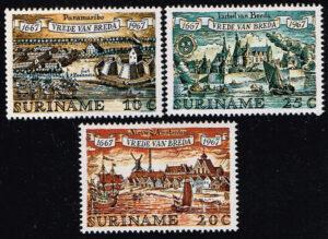 Suriname 1967 300 Verjaardag Vrede van Breda NVPH 481-483