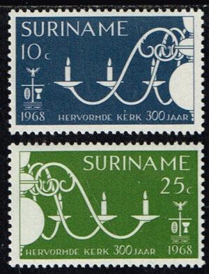 Suriname 1968 300 jaar Hervormde Kerk Paramaribo NVPH 495-496