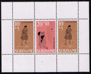 Suriname 1968 Kinderzegels blok NVPH 510