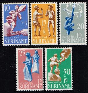 Suriname 1969 Kinderzegels Kinderspelletjes NVPH 522-526