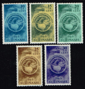 Suriname 1969 Paaszegels Paasgedachte NVPH 611-615