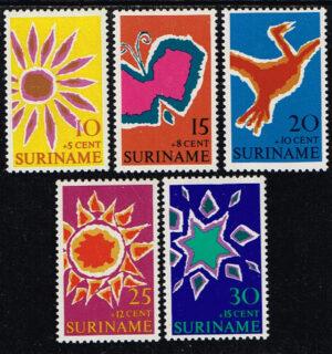 Suriname 1970 Paaszegels NVPH 529-533
