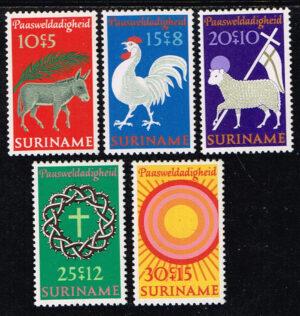 Suriname 1971 Paaszegels NVPH 556-560