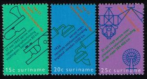 Suriname 1971 Wereld Telecommunicatie Dag NVPH 561-563