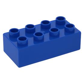 Lego 1980 Duplo 3011 Blauw Blokje Brick 2 x 4