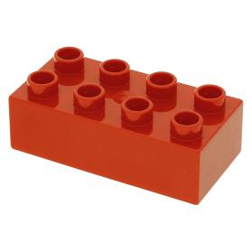 Lego 1980 Duplo 3011 Rood Blokje Brick 2 x 4