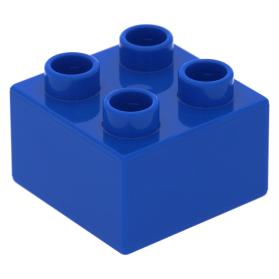 Lego Duplo 3437 blauw 2x2