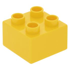 Lego 1980 Duplo 3437 Geel Blokje 2x2