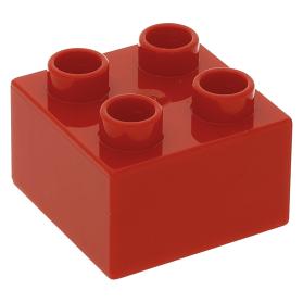 Lego 1980 Duplo 3437 Rood Blokje Brick 2x2