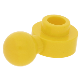 Lego 1974 Homemaker hand 3614a geel 1 x 1 gat en bal