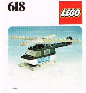 Lego 1971 Legoset 618 politie helikopter police helicopter