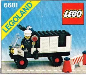 Lego 1981 Legoland 6681 Politie Van Police Van