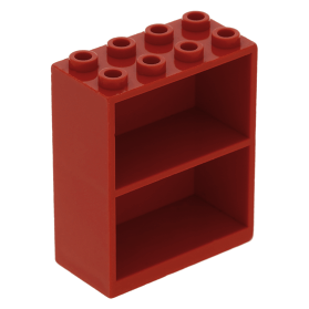 Lego 1971 Homemaker Boekenkast 1 rood 2 x 4 x 4