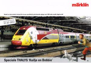 Marklin 2012 vooraankondiging Speciale Thalys Kuifje en Bobbie
