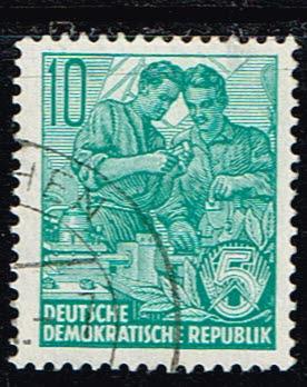 Duitsland (DDR) 1953-1959 Freimarken gestempelt 10 pf Michel nr 366