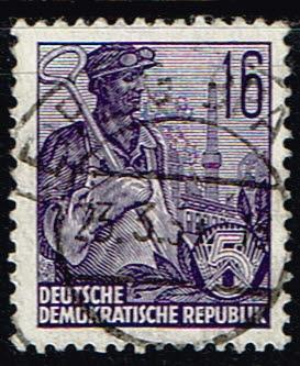 Duitsland (DDR) 1953-1959 Freimarken gestempelt 16 pf Michel nr 369