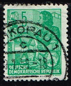 Duitsland (DDR) 1953-1959 Freimarken gestempelt 5 pf Michel nr 363
