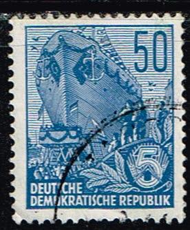 Duitsland (DDR) 1953-1959 Freimarken gestempelt 50 pf Michel nr 584