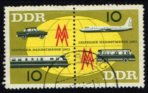 Duitsland (DDR) 1963 Leipziger Herbstmesse gestempelt Michel nr 976-977