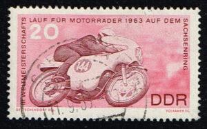 Duitsland (DDR) 1963 Weltmeisterschaftsläufe im Motocross gestempelt Michel nr 973