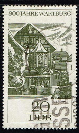 Duitsland (DDR) 1966 900 Jahre Wartburg bei Eisenach gestempelt Michel nr 1234