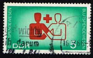 Duitsland (DDR) 1966 Blutspendewesen 5 pf gestempelt Michel nr 1207