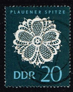 Duitsland (DDR) 1966 Plauener Spitze gestempelt 20 pf Michel nr 1186