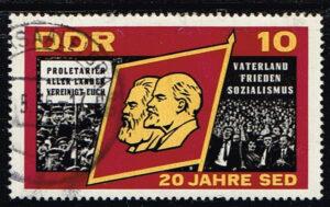 Duitsland (DDR) 1966 Sozialistische Einheitspartei Deutschlands gestempelt 10 pf Michel nr 1174