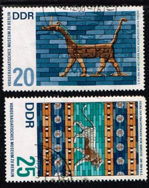 Duitsland (DDR) 1966 Vorderasiatisches Museum Berlin gestempelt Michel nr 1230-1231
