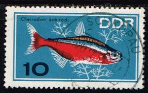 Duitsland (DDR) 1966 Zierfische gestempelt 10 pf Michel nr 1222