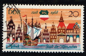 Duitsland (DDR) 1968 750 Jahre Rostock gestempelt Michel nr 1384