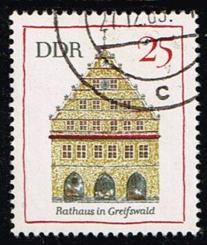 Duitsland (DDR) 1968 Bedeutende Bauwerke gestempelt Michel nr 1381