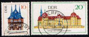 Duitsland (DDR) 1968 Bedeutende Bauwerke gestempelt Michel nr1379-1380