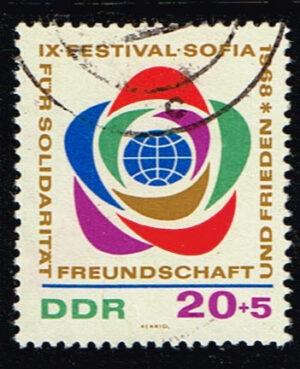 Duitsland (DDR) 1968 Weltfestspiele der Jugend und Studenten gestempelt Michel nr 3778