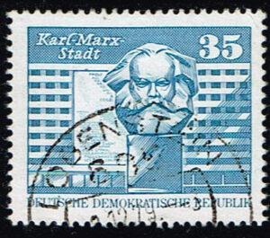 Duitsland (DDR) 1973 Freimarken Aufbau in der DDR gestempeld Michel nr 182135 pf Karl Marx Stadt