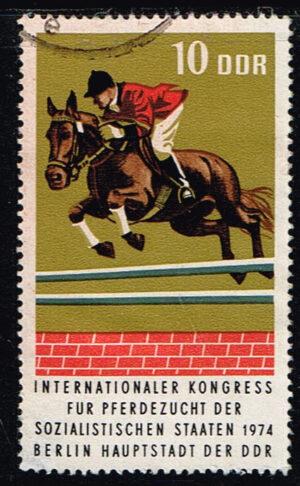 Duitsland (DDR) 1974 Internationaler Kongreß für Pferdezucht gestempelt Michel nr 1969
