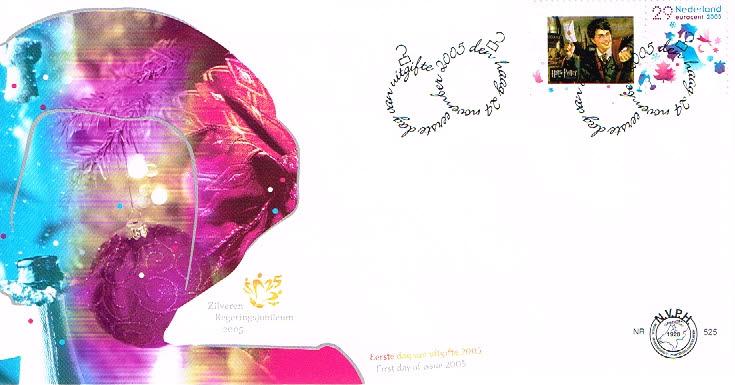 Nederland 2005 FDC Persoonlijke Decemberzegels onbeschreven E525