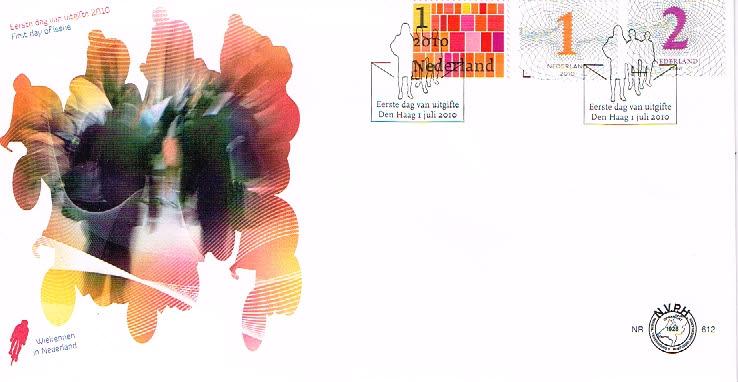 Nederland 2010 FDC Zakenpost onbeschreven E612